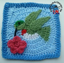 Humming Bird /Dove Crochet Afghan Square
