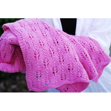 Fir Cone Lace Blanket