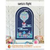 Satsuma Street Santa's Flight Cross Stitch Chart -  Leaflet