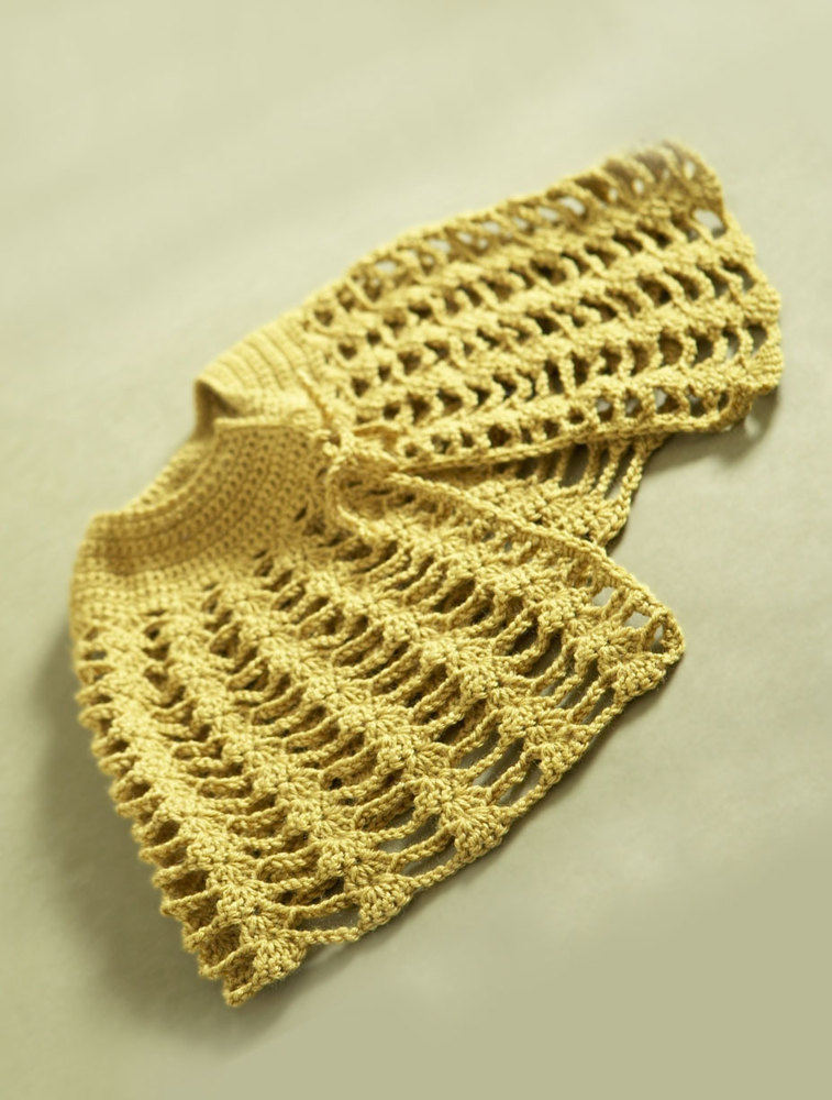 Crochet Capelet In Lion Brand Vanna S Choice 60728ad