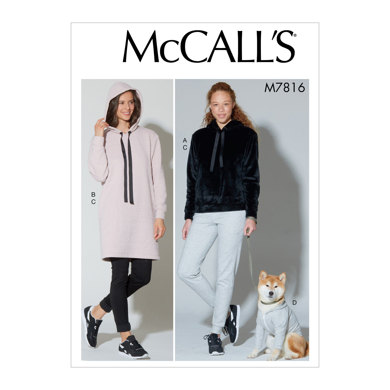McCall's Misses' Top, Dress, Pants and Dog Coat M7816 - Sewing Pattern