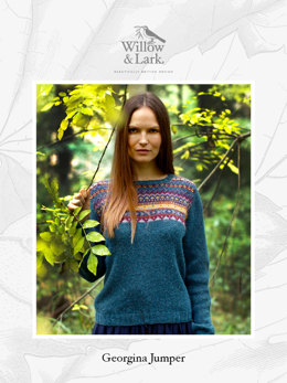 Georgina Jumper in Willow & Lark Woodland