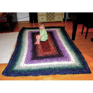 Phyllis Crocheted Granny Rectangle Rug Crochet Pattern By Stash