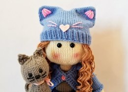Katrina Knit Doll & Her Kitten
