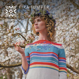 Fira Jumper - Jumper Knitting Pattern For Women in MillaMia Naturally Soft Cotton by MillaMia