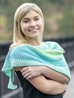 Waimea Shawl in Cascade Yarns Paradigm Shift  - DK594 - Downloadable PDF