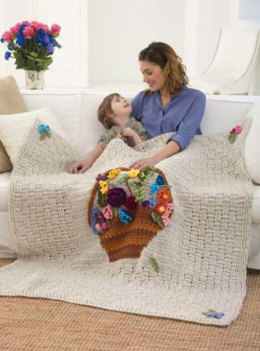 Flower Basket Afghan in Lion Brand Vanna's Choice