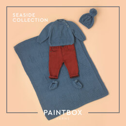 Seaside Collection - Free Layette Knitting Pattern for Babies in Paintbox Yarns Baby DK - Free Downloadable PDF