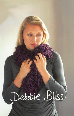 Loop Stitch Boa Scarf in Debbie Bliss Cashmerino Astrakhan - Downloadable PDF