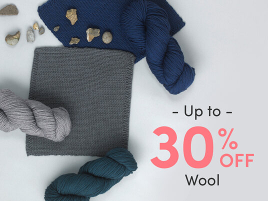 Up to 30 percent off wool yarns!