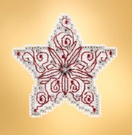 Mill Hill Winter Holiday - Filigree Star Seasonal Ornament - 2.5inx2.5in