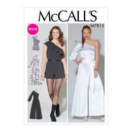 McCall's Misses'/Miss Petite Romper, Jumpsuit and Belt M7815 - Sewing Pattern