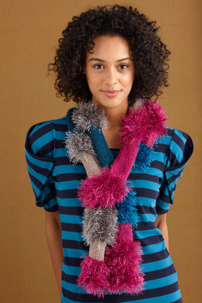 Glamorous Furry Scarf In Lion Brand Vanna S Glamour