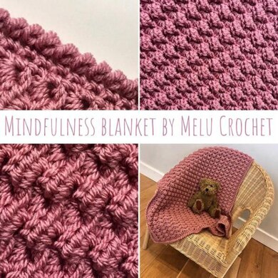 Mindfulness Blanket US terminology by Melu Crochet