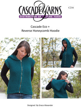 a73fd90916c34f Reversible Honeycomb Hoodie in Cascade Eco+ - C216