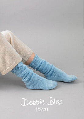 Kai Bed Socks in Debbie Bliss Toast - DB207 - Downloadable PDF