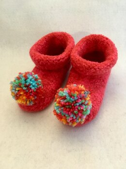 Kids Felted Booties