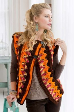 Crochet Trapeze Jacket in Red Heart Super Saver Economy Solids - LW3586