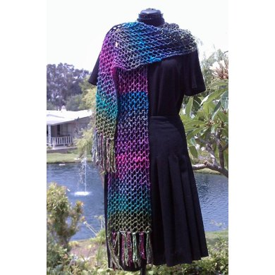 Ridiculously Easy Lacy Scarf or Shawl