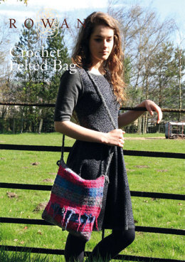 Crochet Felted bag in Rowan Creative Focus Worsted