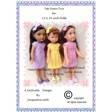 LC10 Top Down Trio for 13 and 14 inch dolls