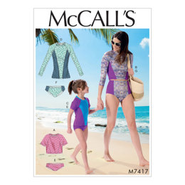 McCall's Misses'/Girls' Swimsuits M7417 - Sewing Pattern