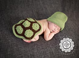 Turtle Shell and Hat Newborn Photo Prop Pattern
