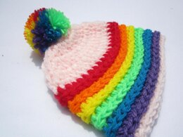 Rainbow Cloud Hat.