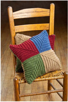 Country Patchwork Pillows in Universal Yarn Classic Worsted