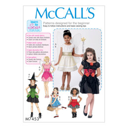 McCall's Children's/Girls' Fairy, Witch, Pirate, Angel and Character Costumes M7453 - Sewing Pattern