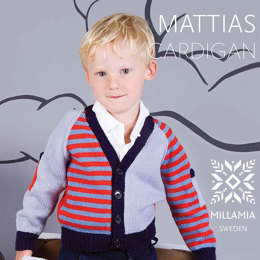 Mattias Cardigan in MillaMia Naturally Soft Merino - Downloadable PDF