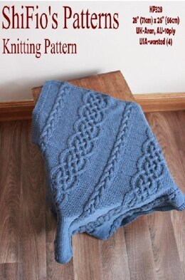 Knitting Pattern baby cable afghan blanket #328