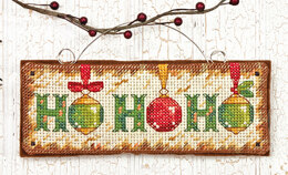 Dimensions Ho Ho Ho Ornament Cross Stitch Kit - 14cm x 5cm