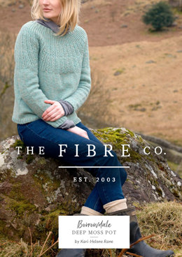 Deep Moss Pot Pullover in The Fibre Co. Lore - Downloadable PDF
