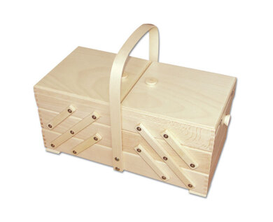 Large Cantilever Sewing Box, Beech Wood - Light Colour
