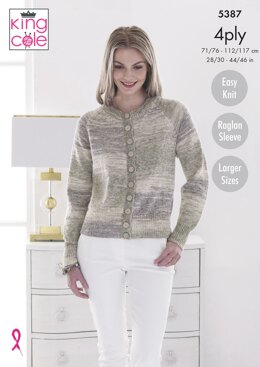 Cardigan & Sweater in King Cole Drifter 4ply - 5387pdf - Downloadable PDF