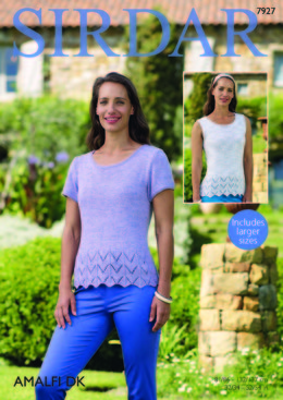 Short Sleeved and Sleeveless Top in Sirdar Amalfi DK - 7927