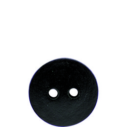 Dark Brown Leather 28mm 2-Hole Button