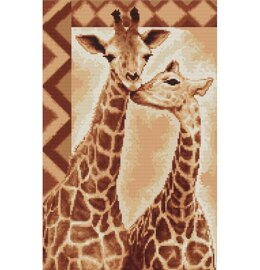Luca-S Giraffes Cross Stitch Kit - Multi