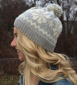 Snowflower Hat in Classic Elite Yarns Ava and Fresco - Downloadable PDF