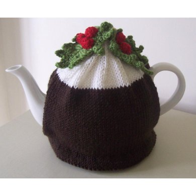 Christmas Pudding Tea Cosy Knitting Crochet Pattern By Buzybee