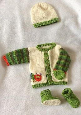 Hungry Caterpillar Cardigan Set