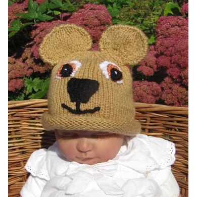 Baby Teddy Bear Beanie Hat