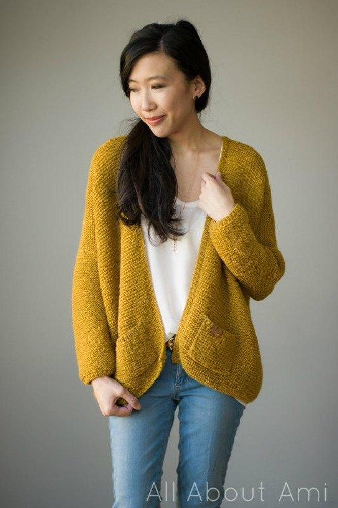 The Midtown Cardigan Knitting Pattern By Stephanie Lau