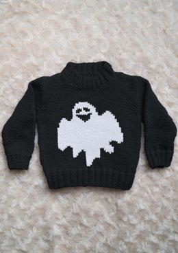 Intarsia - Ghost Chart - Childrens Sweater