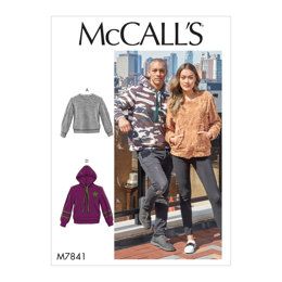 37aa691d57d2d7 McCall s Misses  and Mens Tops M7841 - Sewing Pattern