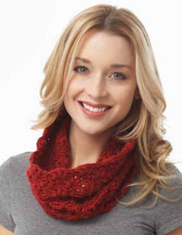 Lacy Cluster Cowl in Caron Simply Soft - Downloadable PDF
