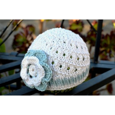 Diagonal Lace Baby Hat
