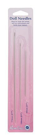 Hemline Doll Needles - 3 sizes