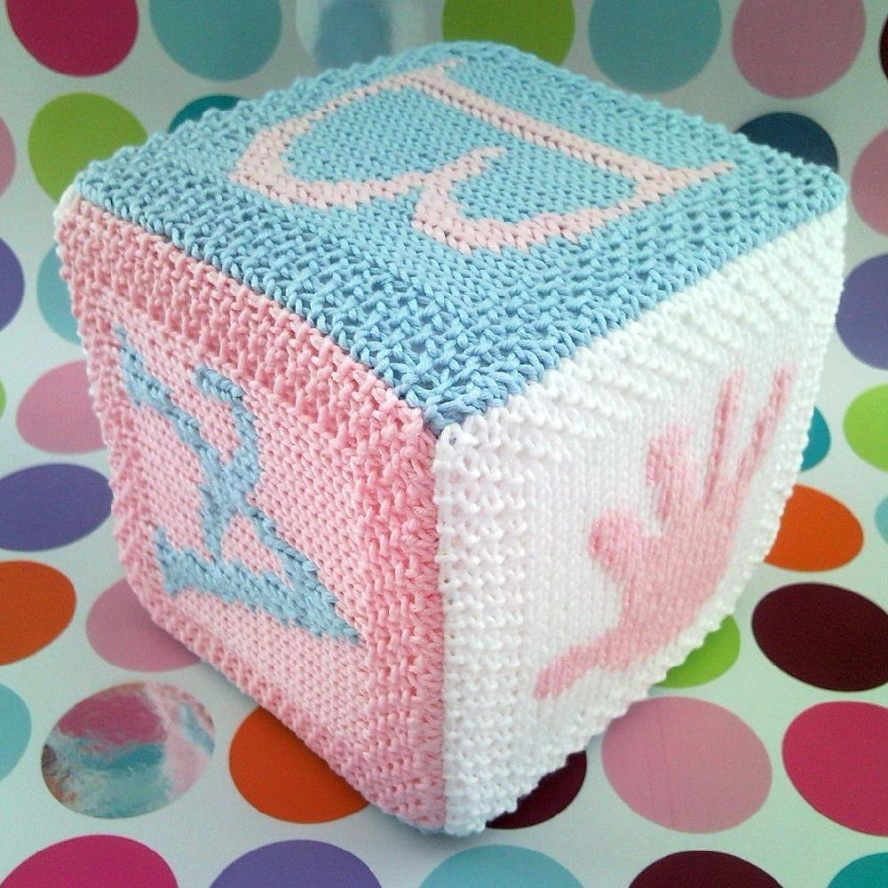 Knitting Patterns For Babies Loveknitting : Baby building block cube Knitting pattern by Fiona Kelly Knitting Patterns ...